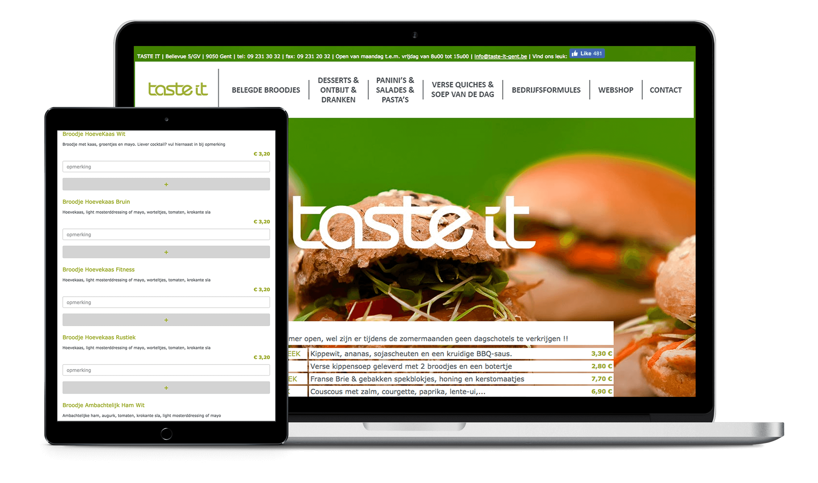 Screenshot Webshop TasteIt